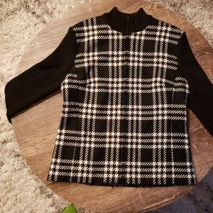 Kate Hill Houndstooth Wool Blazer/Sweater -Size 10